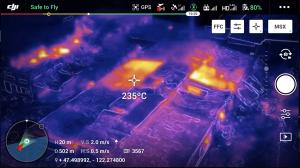 Prise de vues thermographique dans le spectre infrarouge