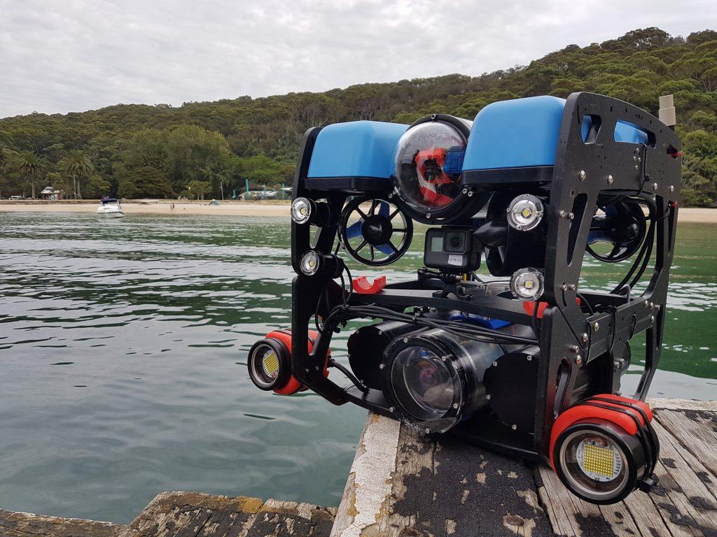 Robot sous marin Blue Robotics, travaux, inspections, recherche, photos et vidéos sous-marin
